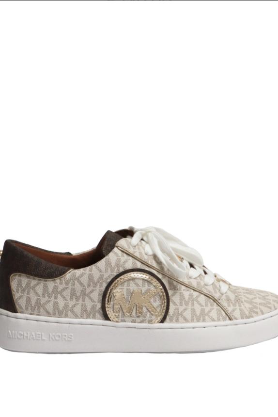 MICHAEL KORS Keaton sneaker vanilla/brown