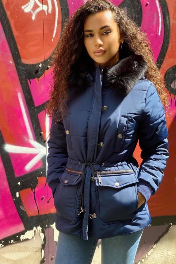 RT jacket blauw sale