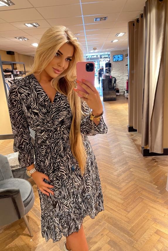 VANESSA DRESS ZEBRAPRINT