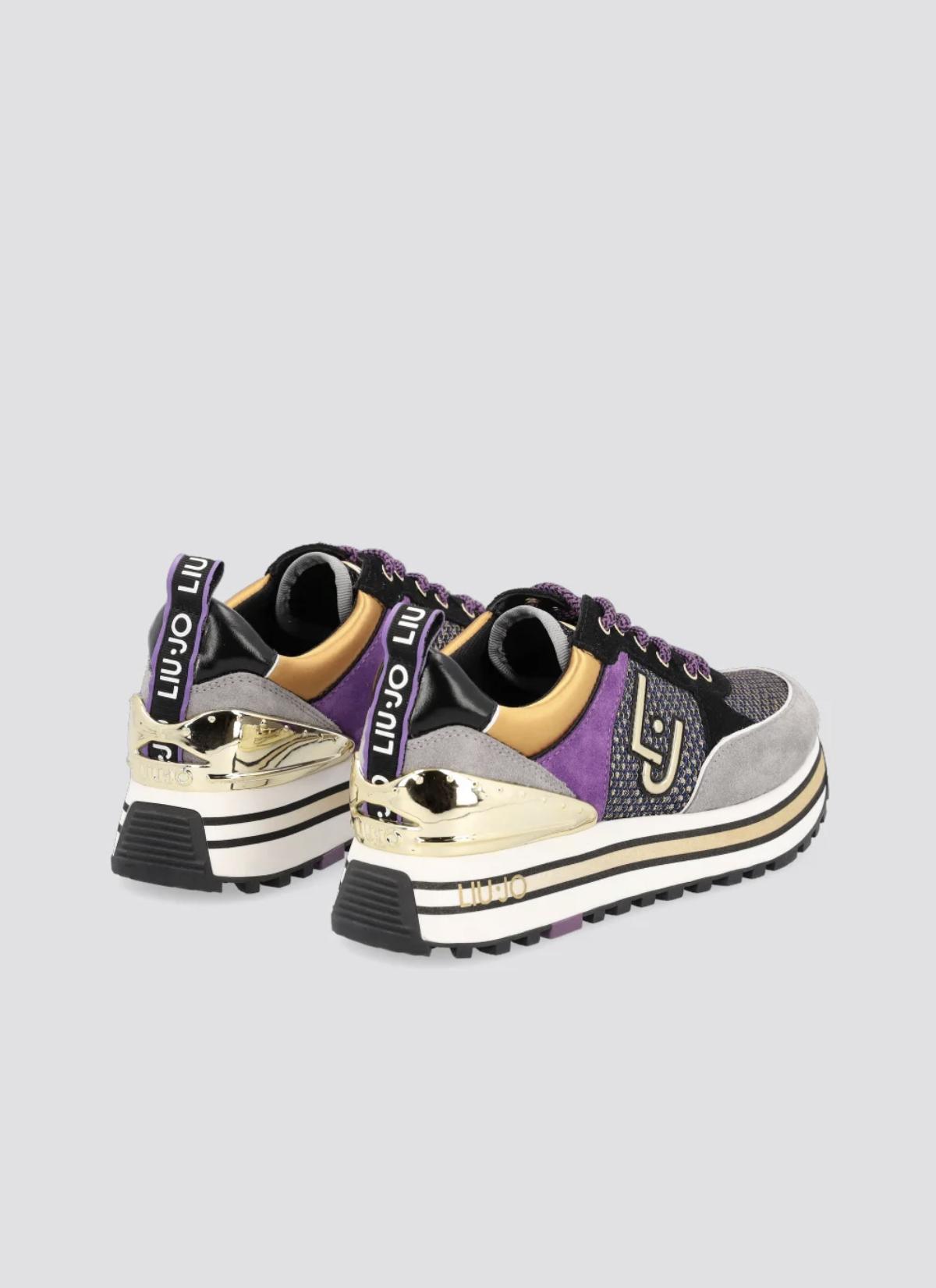 LUIJO sneaker 👟 maxi wonder grijs zwart paars