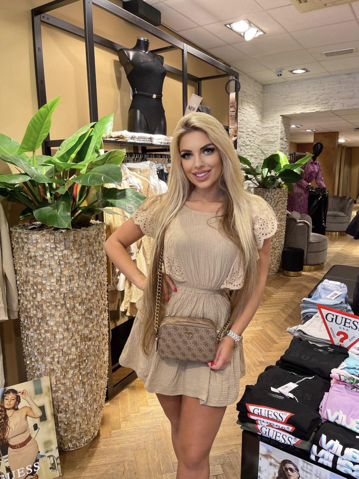 Dress joya beige new