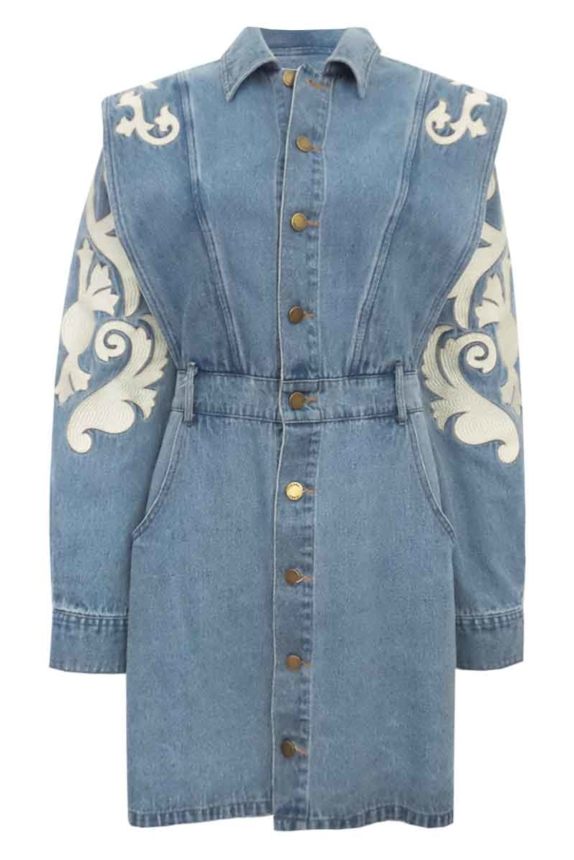 CARLYN DENIM DRESS New