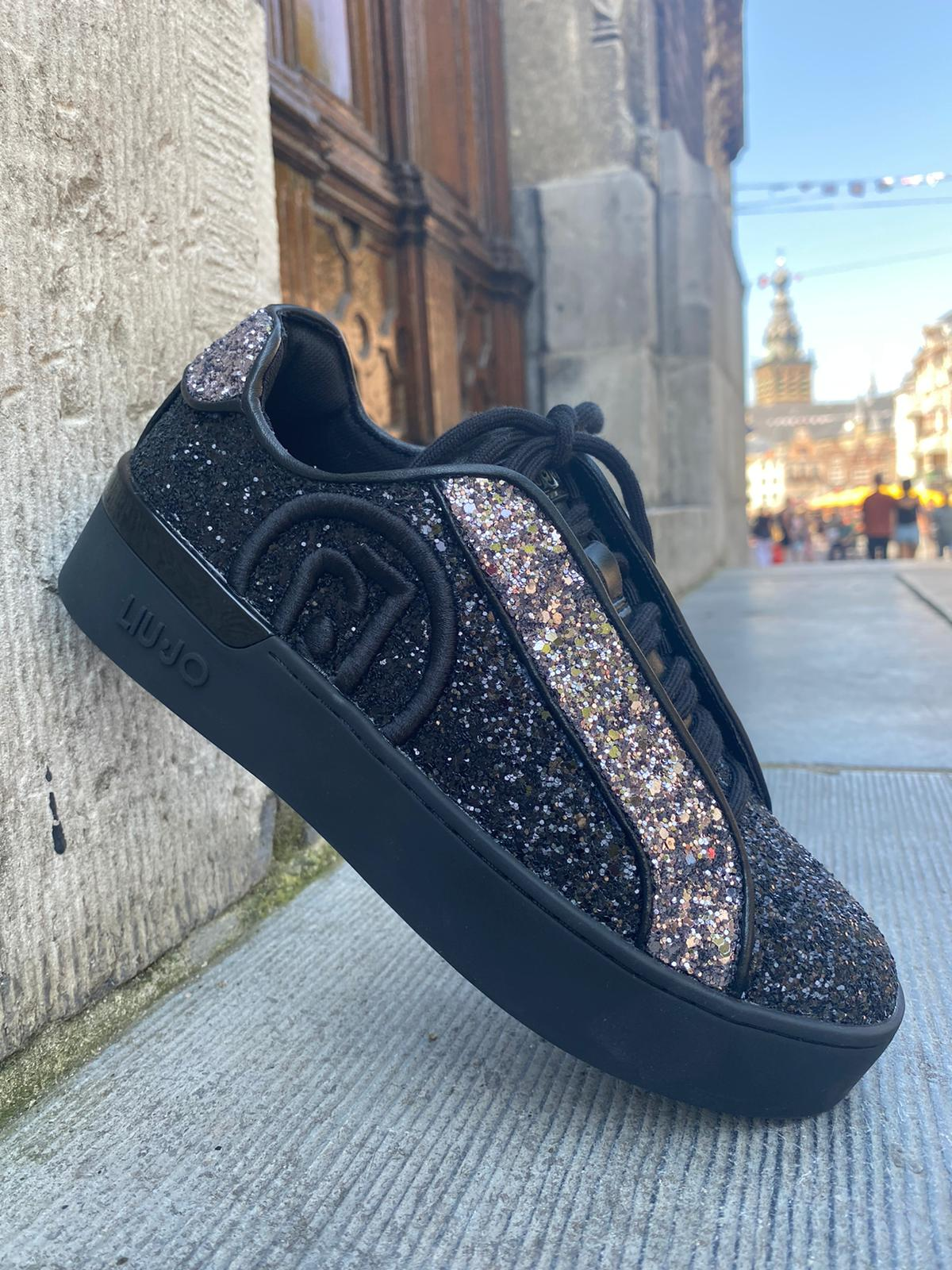 Luijo sneaker BLACK zilver NEW