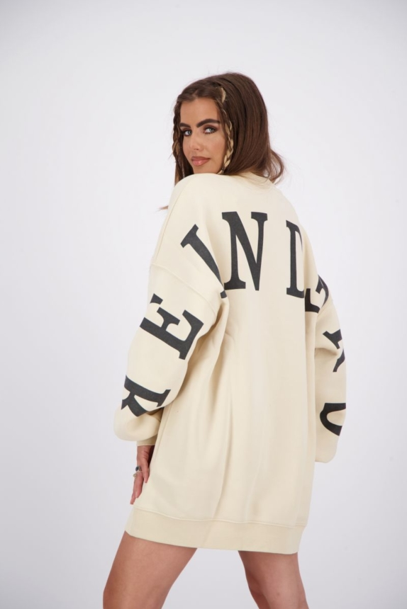 YARA FAY SWEATER DRESS Beige New