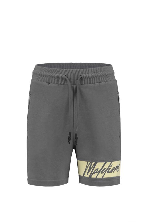 Malelions Women Captain Short – Matt Grey/Yellow
