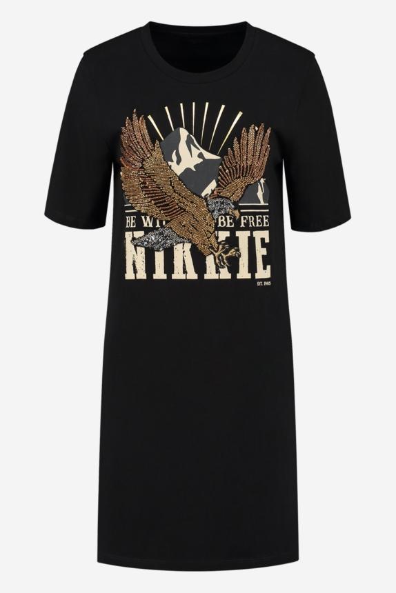 NIKKIE  EAGLE BLING T-DRESS BLACK