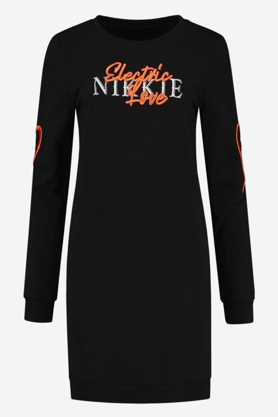 NIKKIE  ELECTRIC NIKKIE SWEATDRESS BLACK