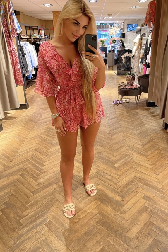 Emily Playsuit Pink New