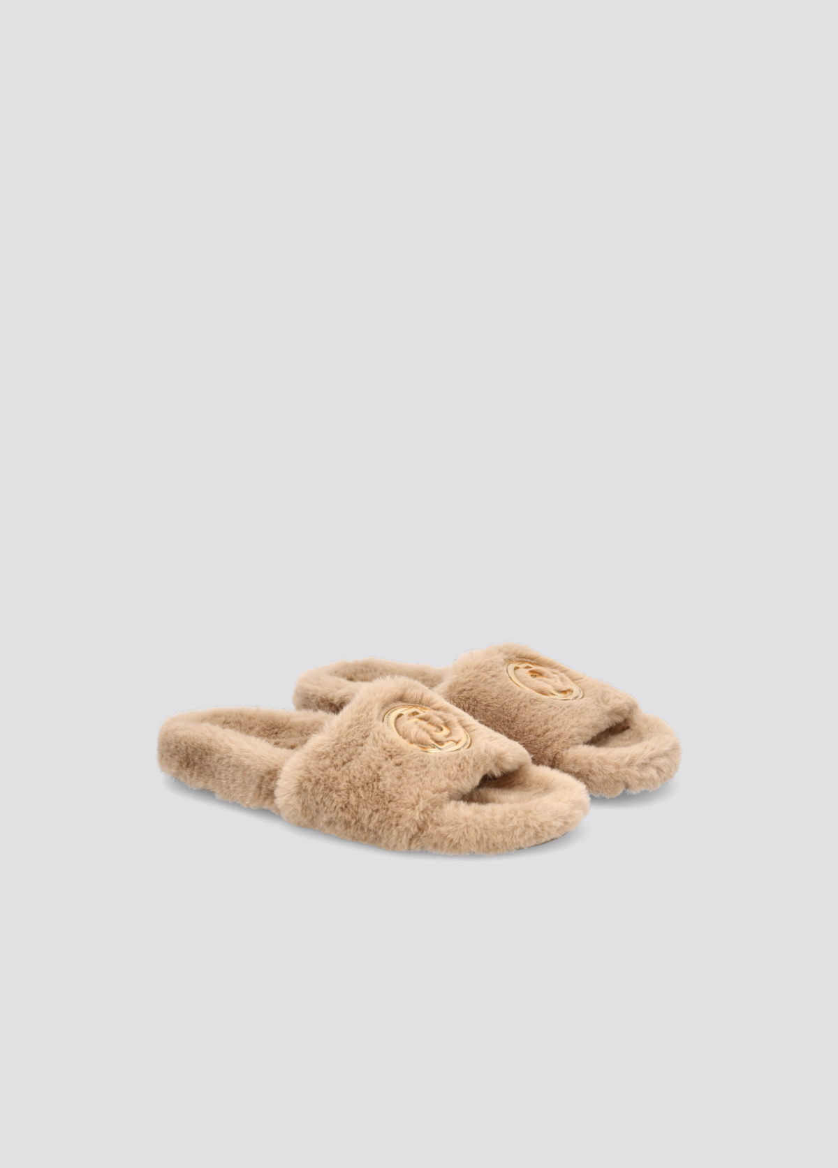 LIU.JO BROWN slippers in synthetic fabric BROWN new