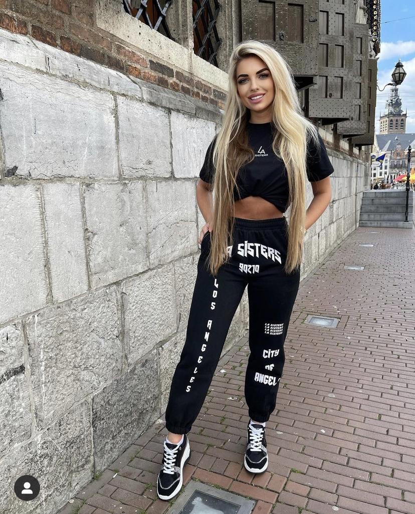 La Sisters track pants Black new