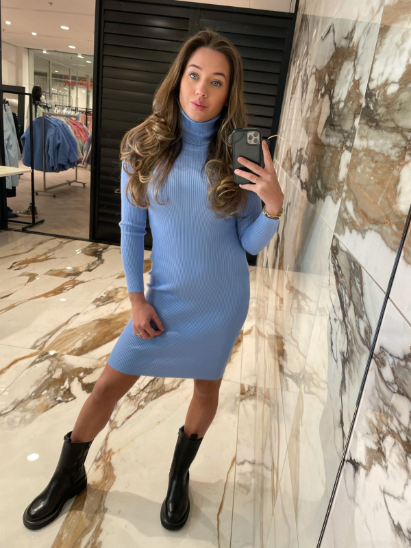 Lorena dress blauw new