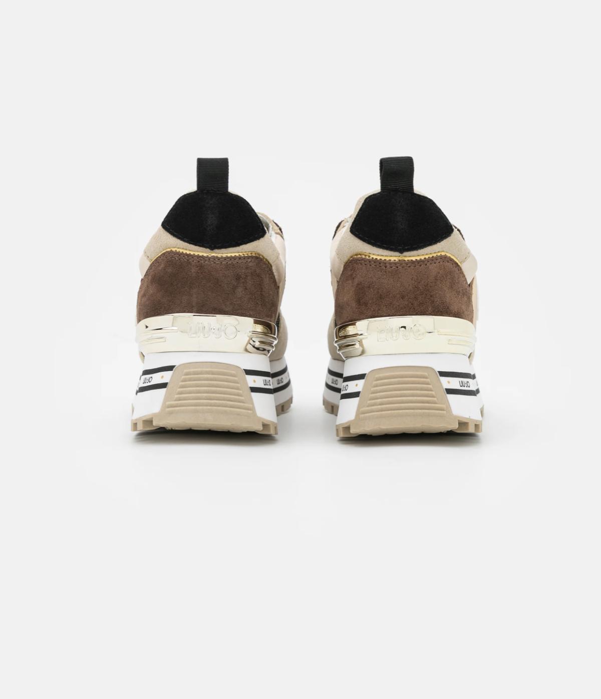Liu Jo Jeans MAXI – Sneakers laag beige bruin NeW