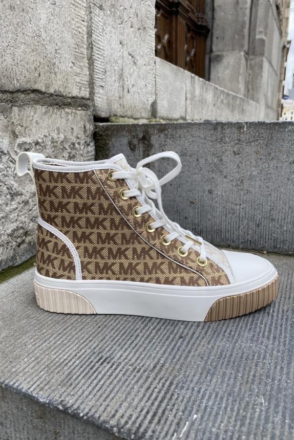 MICHAEL KORS Gertie high top beige / ebony