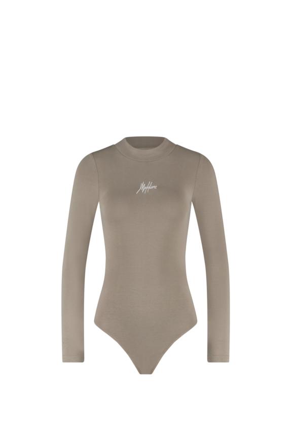 Malelions Women Bodysuit – Taupe/White New