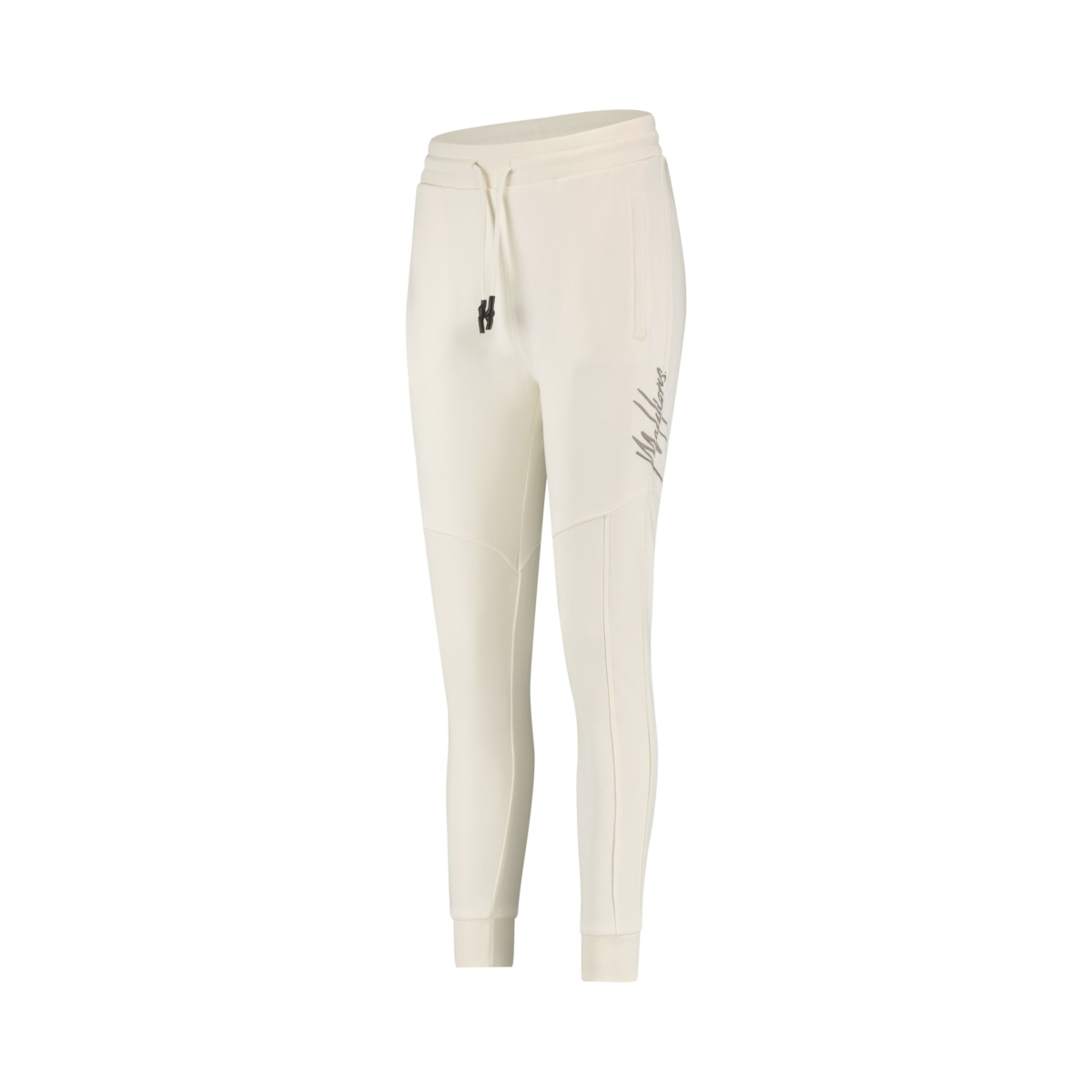 Malelions Essentials Trackpants off white / grey logo New