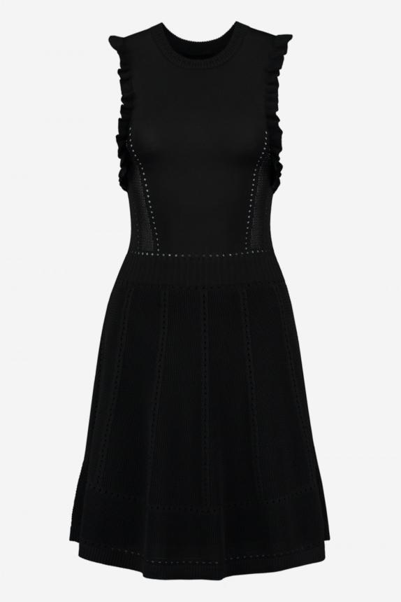 NIKKIE KNITTED DRESS WITH RUFFLES JULIETTE DRESS NEW