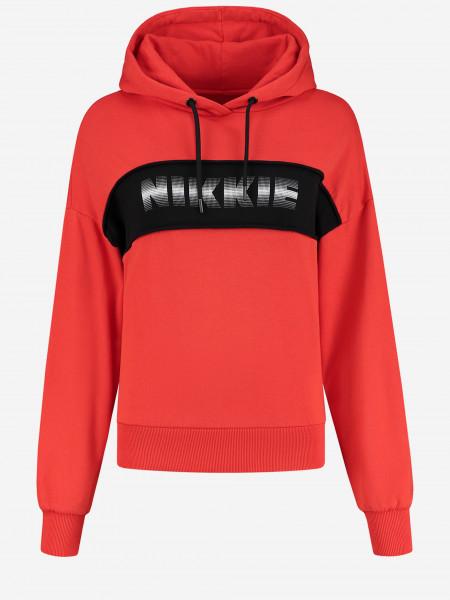 NIKKIE SWEATER MET CAPUCHON EN NIKKIE ARTWORK CITY COLORBLOCK ANORAK HOODIE