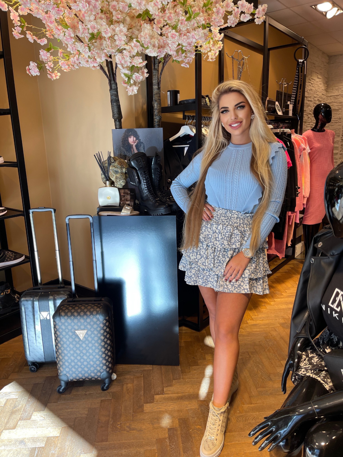 Belinda rok blauw