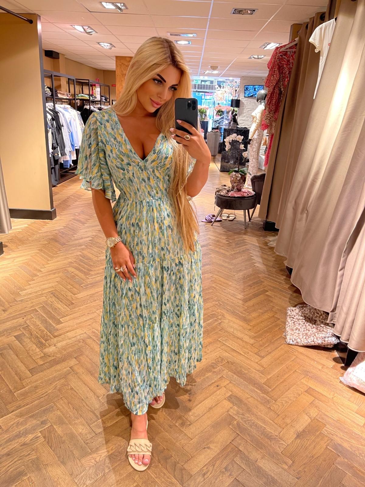 Tessa maxi Dress groen New
