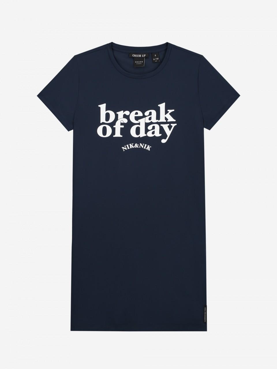 NIK&NIK T-SHIRT DRESS MET NIK&NIK-ARTWORK BREAK DRESS Sale