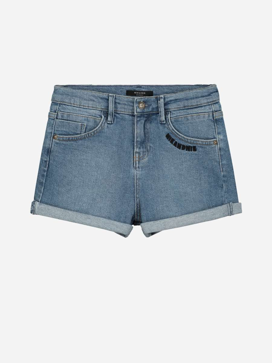 NIK&NIK DENIM SHORT MET NIKANDNIK-LOGO SARA DENIM SHORTS