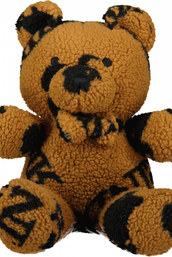 TEDDY BEAR ALL OVER PRINT SMALL Bruin BLACK  (exclusief)