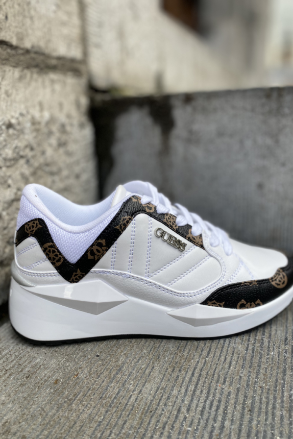 GUESS SNEAKER WHITE/BROWN  New