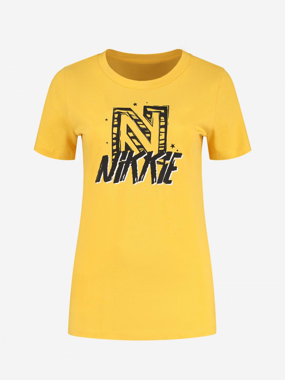 NIKKIE T-SHIRT MET NIKKIE-ARTWORK ANIMAL NIKKIE T-SHIRT