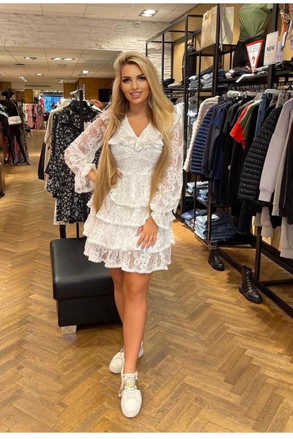 Shop Dress WHITE New