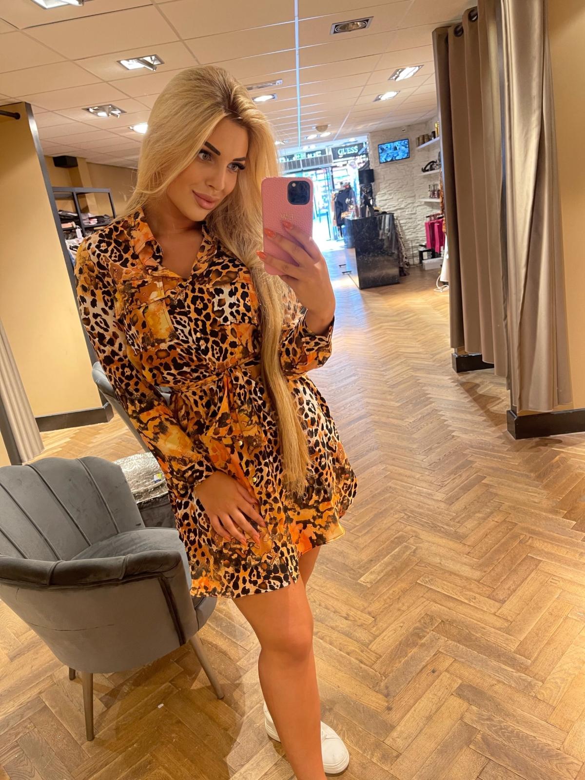 Francisca dress print orange