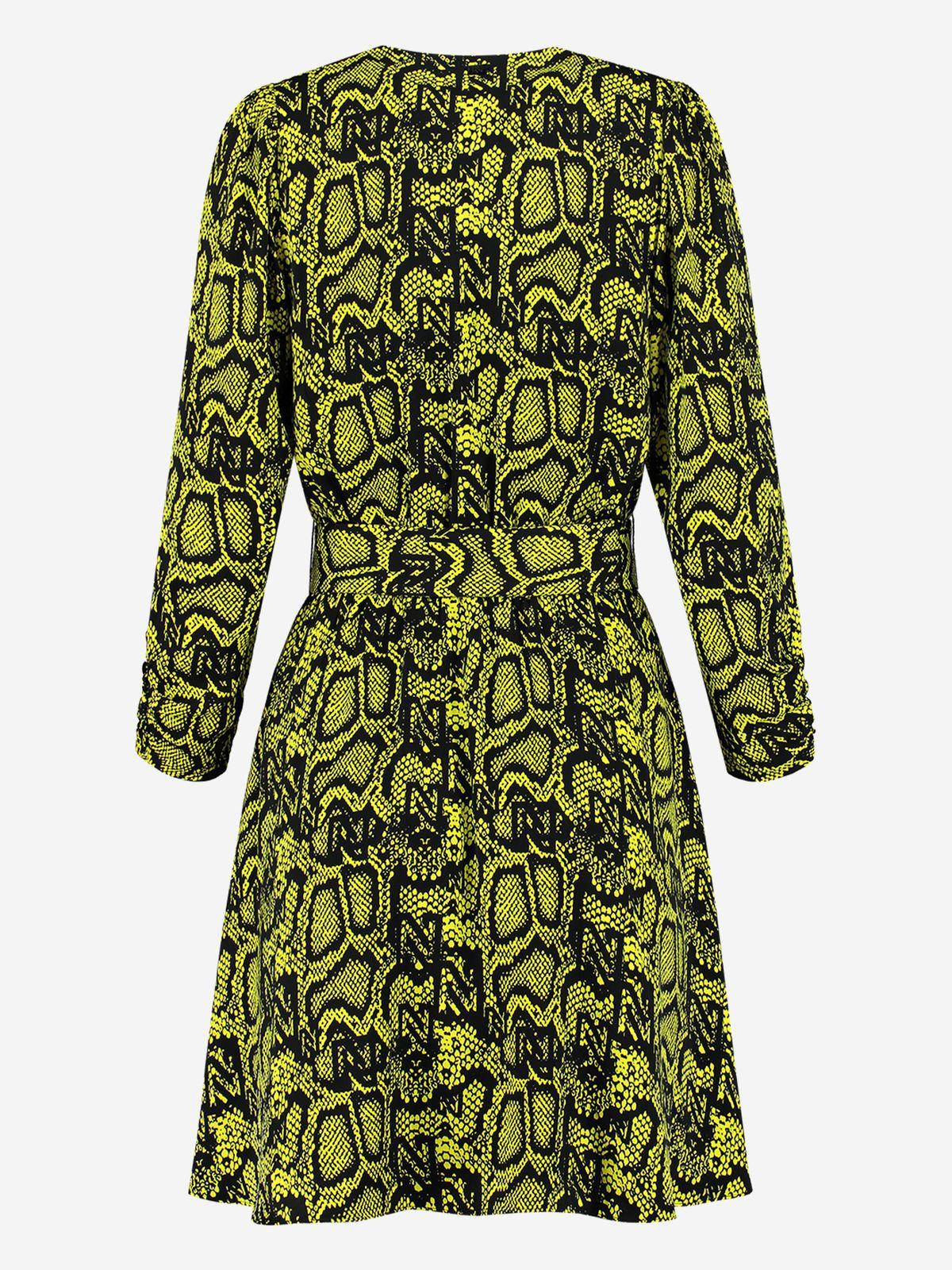 NIKKIE  SNAKEY DRESS POISON GREEN