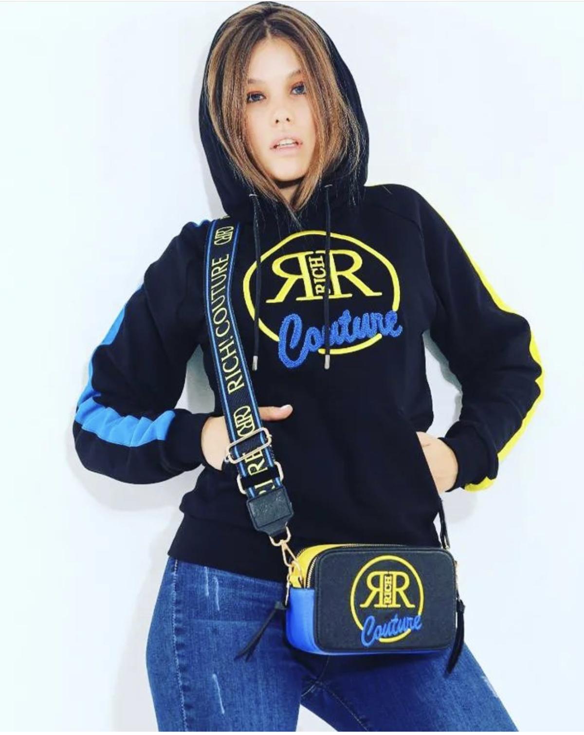 Richi hoodie zwart blauw New