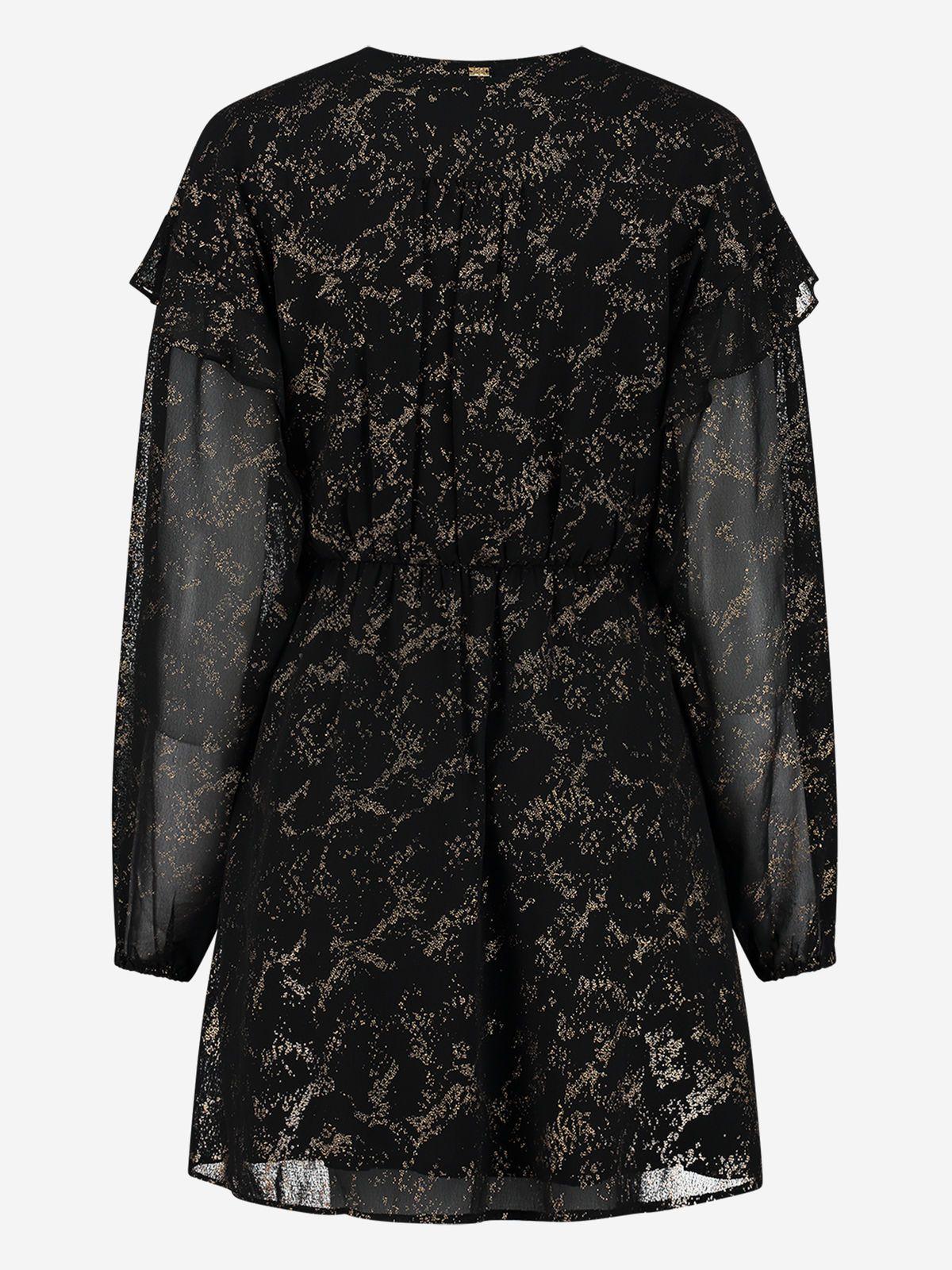 NIKKIE  SNAKE FOIL DRESS BLACK