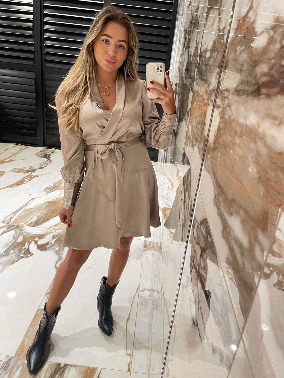 Felicia Dress NEW Gold -Beige