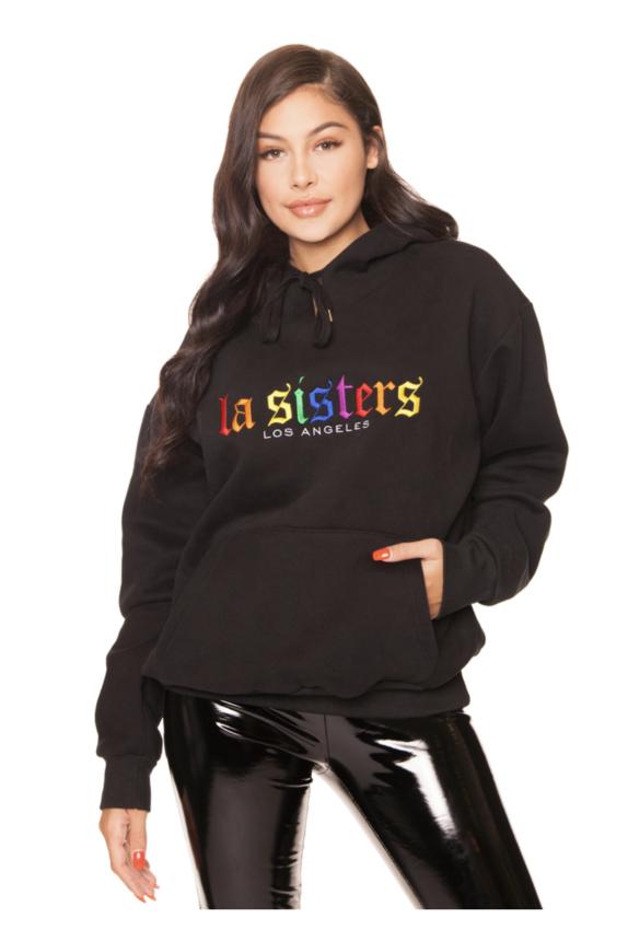 LA SISTERS || RAINBOW HOODIE NEW