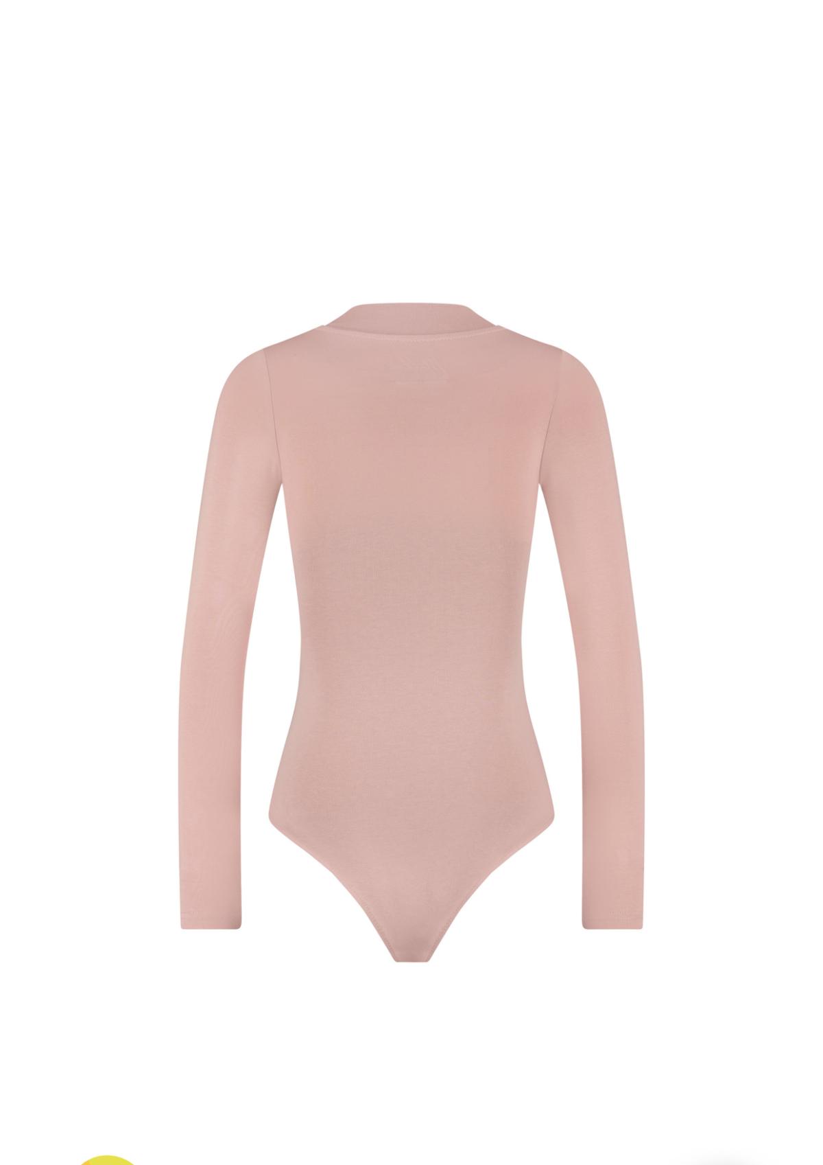 Malelions Women Bodysuit – Mauve/Dark Antra