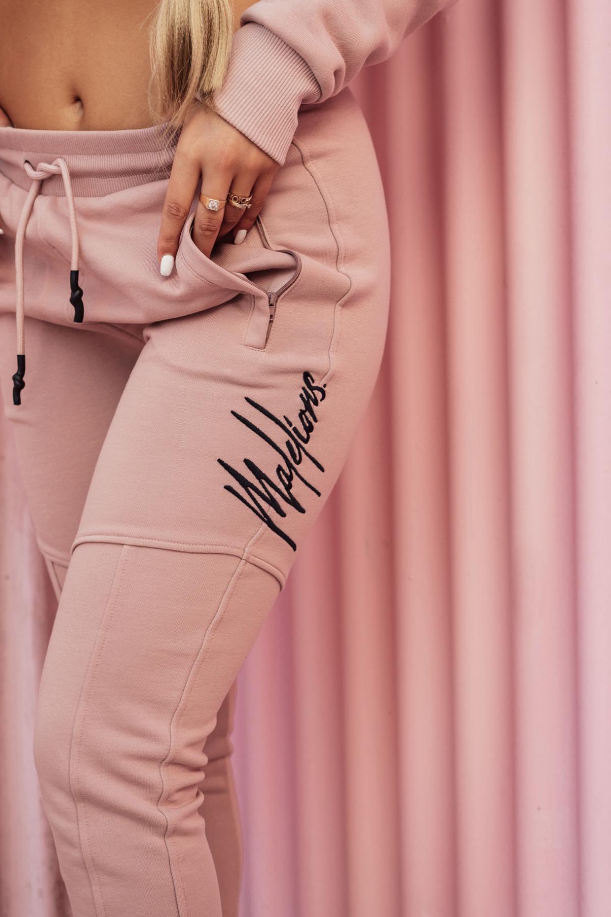 Malelions Women Multi Trackpants – Mauve/Dark Antra New