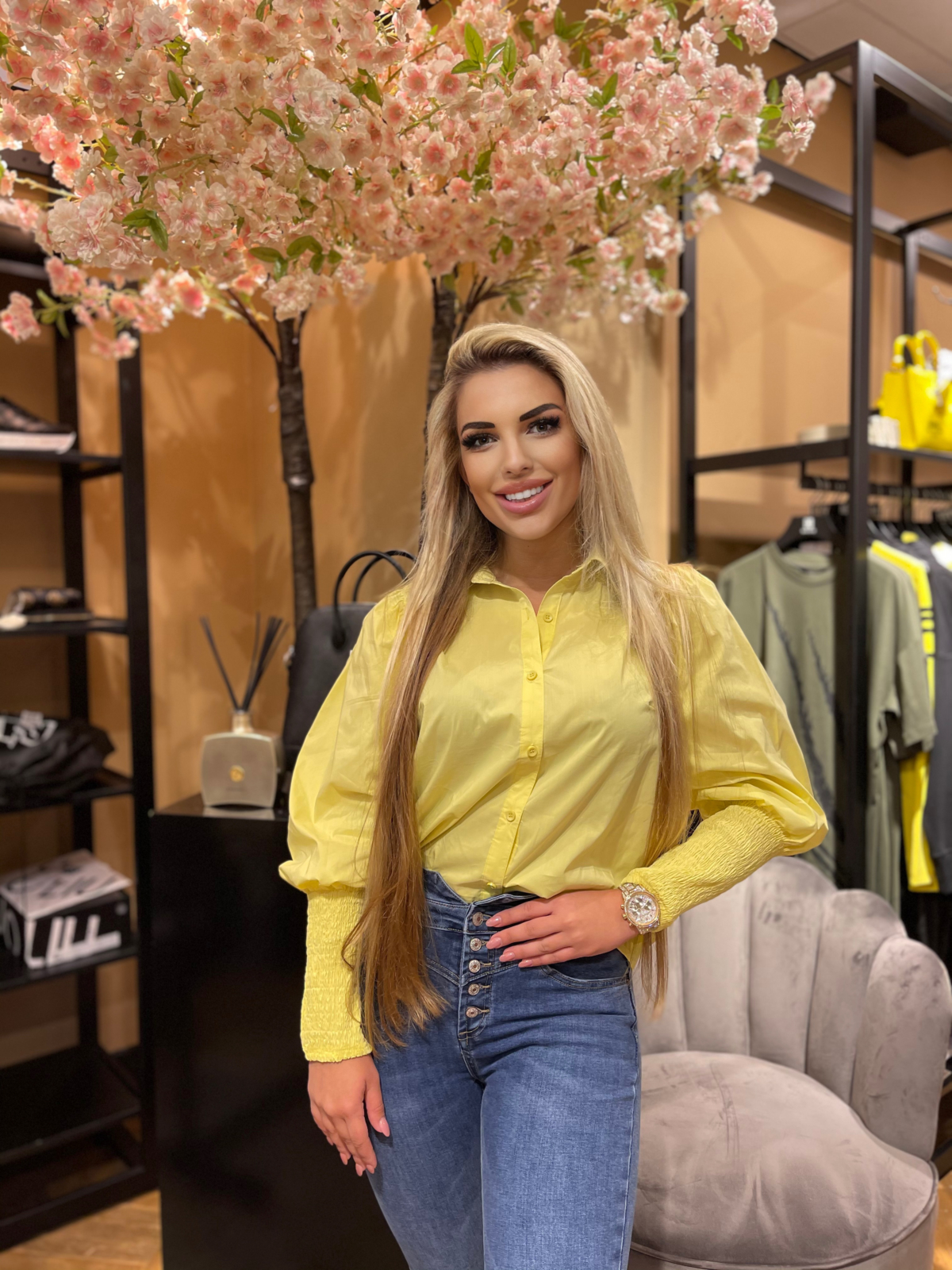 💛✨Just Dai blouse yellow New ✨💛