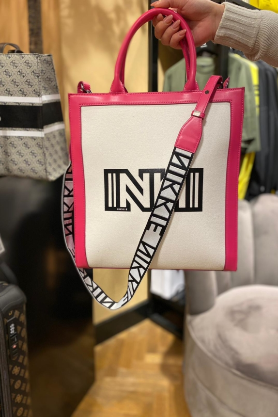 Nikkie tas off White / pink  NEW💕