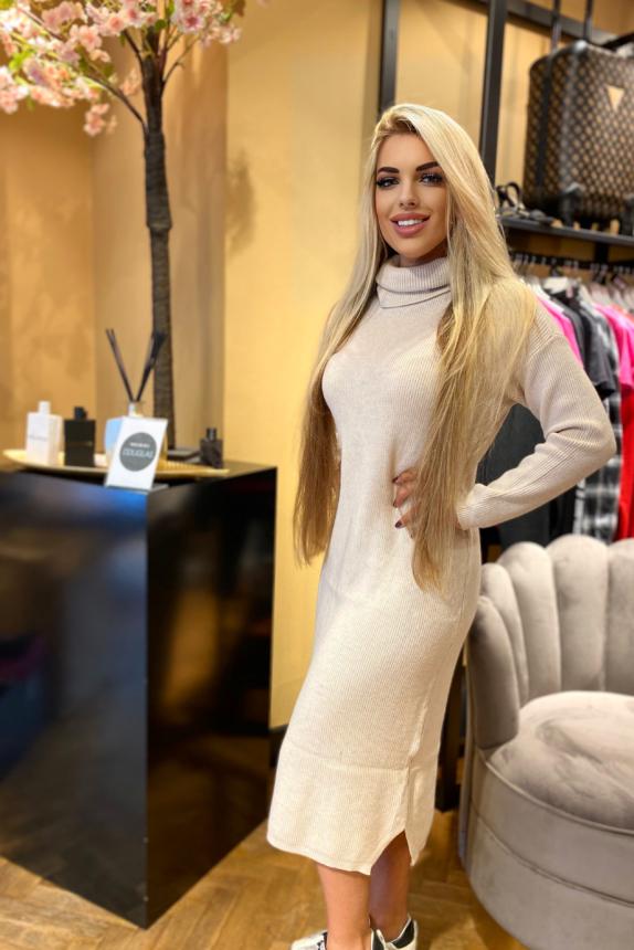 JANDA DRESS BEIGE
