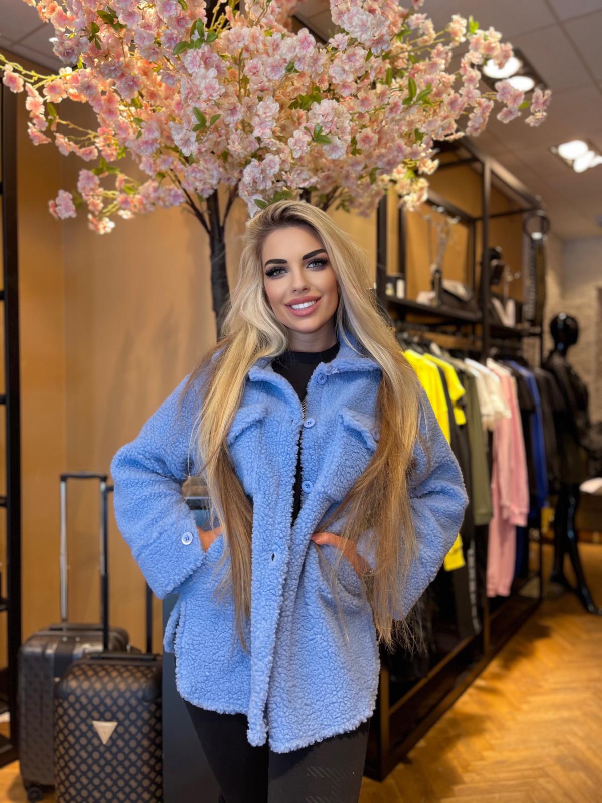 Sharon Coat blauw Model NEW💙