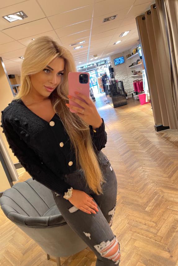 Strass vest black