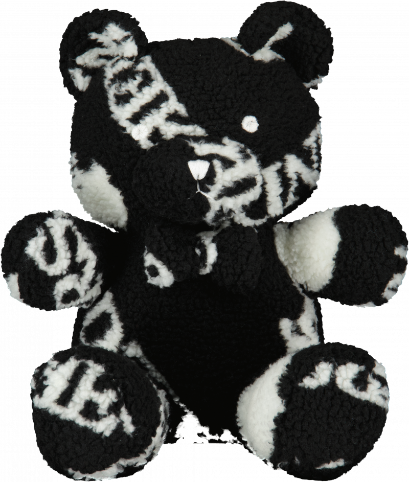 TEDDY BEAR ALL OVER PRINT SMALL BLACK/WHITE NEW (exclusief)