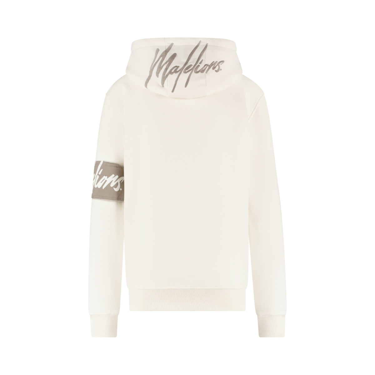 MALELIONS HOODIE NEW OFF WHITE / Grey Logo