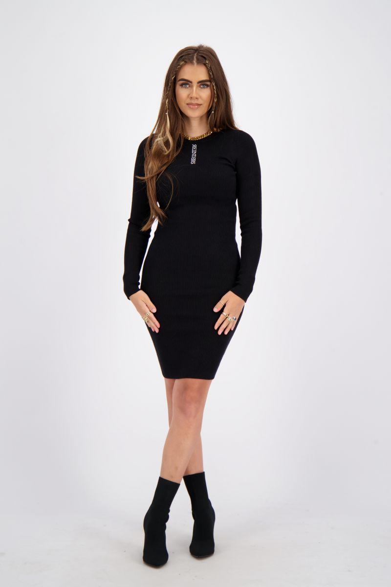 REINDERS LIVIA DRESS KNITWEAR BLACK