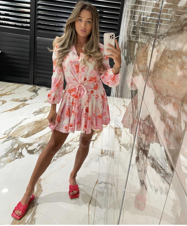 Lindsey flower Dress pink New
