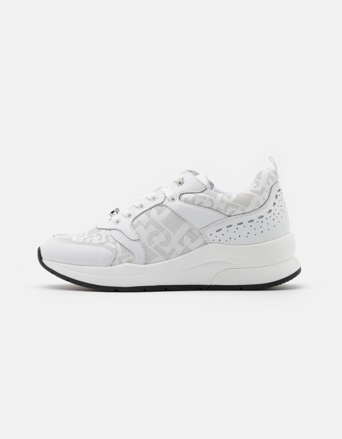 LUIJO logo sneaker white New