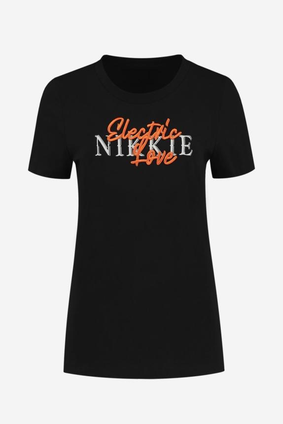 NIKKIE  ELECTRIC NIKKIE T-SHIRT BLACK New