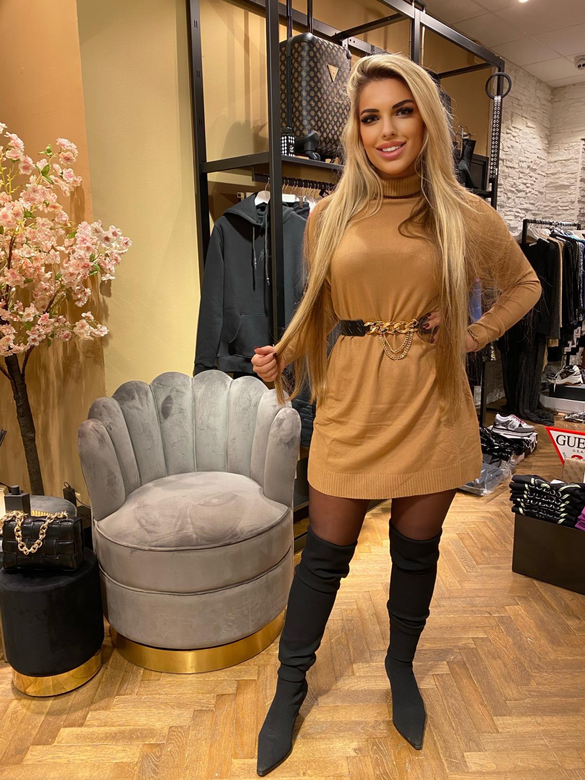 Comfy dress Camel