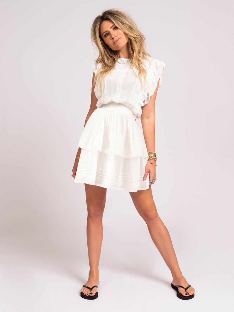 NIKKIE SAMIYA DRESS WHITE NEW